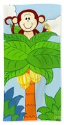 Tree Top Monkey Beach Towel