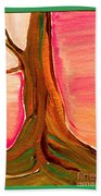 Tree Trunk Beach Towel