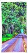 Tree Tunnel Kauai Beach Towel