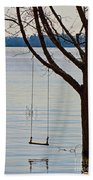 Tree With A Swing Beach Towel