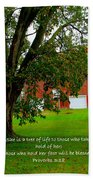 Tree With Scripture Beach Towel