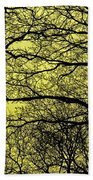 Trees Abstarct Yellow Beach Towel