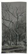 Trees Along The Greenway Beach Towel by Janet Felts