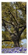 Trees And Flowers Beach Towel