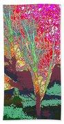 Trees Around Faal Season  Digitally Painted Photograph Taken Around Poconos  Welcome To The Pocono M Beach Towel