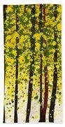 Trees At Twilight Xviii Beach Towel
