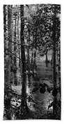 Trees Bw Beach Towel