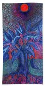 Trees Flower  Beach Towel