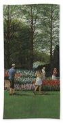St. Louis Botanical Garden Trees Beach Towel