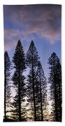 Trees In Silhouette Beach Towel