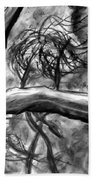 Trees In The Wind Beach Towel