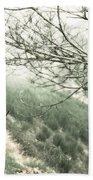Trees On A Mountain Beach Towel