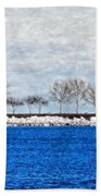 Trees On The Edge Beach Towel