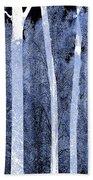 Trees Square Beach Towel