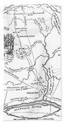 Trenton Map, 1777 Beach Towel