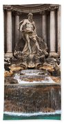 Trevi Fountain Beach Towel by John Wadleigh