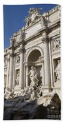 Trevi Fountain Rome Beach Towel