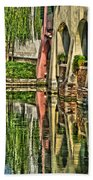 Treviso Canal And Reflections Beach Towel