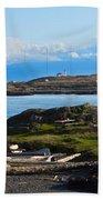 Trial Island And The Strait Of Juan De Fuca Beach Towel