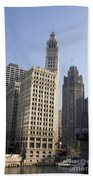 Tribune Tower Chicago Beach Towel
