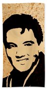 Tribute To Elvis Presley Beach Towel