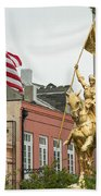New Orleans Tribute To Joan Of Arc Beach Towel