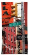 Tribute To Little Italy - Hester And Mulberry Sts - N Y Beach Towel