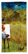 Tribute To Vincent Van Gogh - His Final Days Beach Towel
