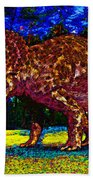 Triceratops Painting Beach Towel