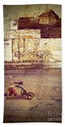Tricycle In Abandoned Room Beach Towel