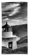 Trinidad Light In Black And White Beach Towel by Adam Jewell