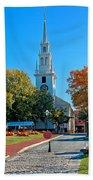 Trinity Church In Queen Anne Square In Newport Beach Towel
