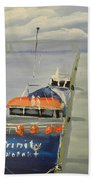 Trinity Long Line Fishing Trawler At San Remo  Beach Towel