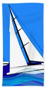 Trio Of Sailboats Beach Towel