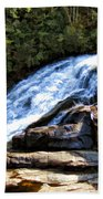 Triple Falls II Beach Towel