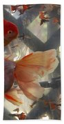Triple Tail Goldfish Beach Towel