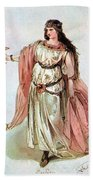 Tristan And Isolde, 1865 Beach Towel