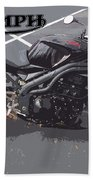 Triumph Motorcycle Beach Towel