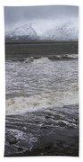 Trollaskagi Black Sand Beach Beach Towel