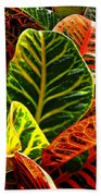 Tropical Croton Beach Towel