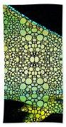 Tropical Fish Art 8 - Abstract Mosaic By Sharon Cummings Beach Towel
