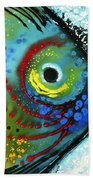 Tropical Fish - Art By Sharon Cummings Beach Towel by Sharon Cummings