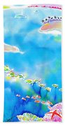 Tropical Fishes Beach Towel