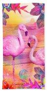 Tropical Flamingo Beach Sheet