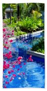 Tropical Garden Around Pool Beach Towel