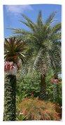 Tropical Garden Beach Towel