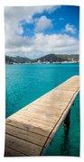 Tropical Harbor Beach Towel