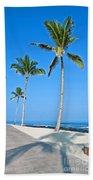 Tropical Island Beach And Sidewalk Art Prints Beach Towel