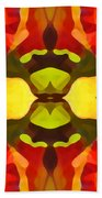 Tropical Leaf Pattern 1 Beach Towel