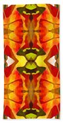 Tropical Leaf Pattern 2 Beach Sheet